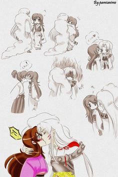 Sesshomaru and Rin. So cute!