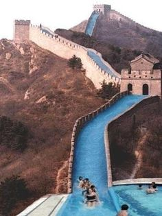 cool pool: how cool would that be – if Chinese wall were one big water slide ; ) (via EverythingFunny.org)
