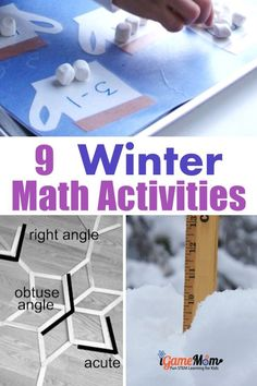 Winter Math Activities for kids winter math activities kids from preschool kindergarten to middle school, snowflake math, acorn math, hot chocolate math, … Winter Activities For Kids, Science Activities For Kids, Math For Kids, Science Experiments Kids, Preschool Kindergarten, Fun Math, Preschool Activities, Lego Math, Math Art