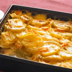 I pinned it because i made it!!!! these were fabulous!!!  Cheesy Scalloped Potatoes & Carrots