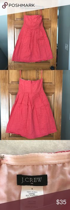J Crew strapless dress Gently used. J Crew factory strapless lined dress with zipper back. Size 4. J. Crew Dresses Strapless