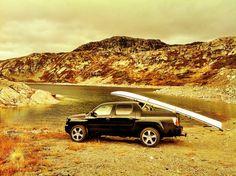 Honda Ridgeline, camping in Norway