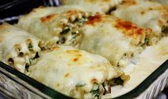 chicken alfrado lasagna rolls