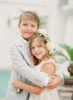 #ringbearer #flowergirl well dressed littles Photography by www.laurenkinsey.com  Read more - http://www.stylemepretty.com/2013/09/27/alys-beach-florida-wedding-from-lauren-kinsey/