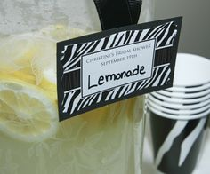 Personalized #Zebra DIY Tags for bridal showers
