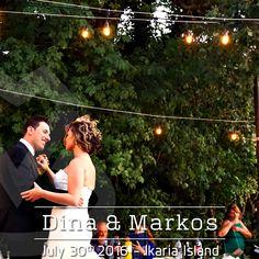 Dina & Markos during their 1st dance by the light of 200 #String #Lights | #DJMikeVekris #StringLights #MikeVekrisOnTour2016 #WeddingLighting