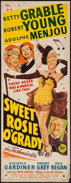 "Movie Posters:Musical, Sweet Rosie O'Grady (20th Century Fox, 1943). Insert (14"" X 36"").Musical.. ... Image #1"