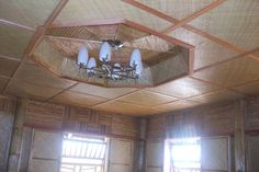 bamboo house interior design Bamboo House, Siargao, Home Interior Design, Indoor, Ceiling Lights, Mirror, Modern, Furniture, Beach