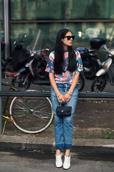Jeans and booties. GILDA AMBROSIO | Citizen Couture