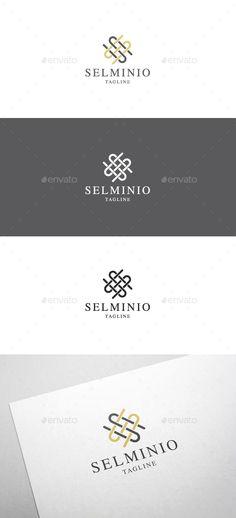 Selminio S Letter Logo - Letters Logo Templates S Logo Design, Logo Design Template, Logo Templates, Branding Design, Icon Design, Graphic Design, Monogram Logo, Monogram Letters, S Letter Logo