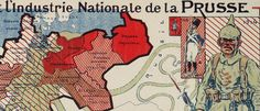 #French anti-#German #propaganda #map (1914), #WWI