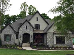 New Post Red Brick House With Black Roof Visit Bobayule Trending Decors Stone Houses