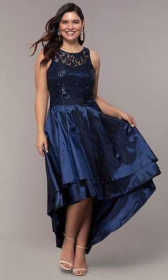 a6de12ca9069e Plus-Size High-Low Prom Dress by Simply High Low Prom Dresses