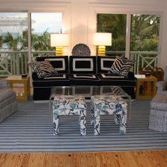 Beach House - tropical - family room - other metro - Deborah Houston Interiors