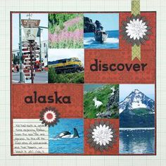 Discover Alaska Scrapbooking Layout Idea