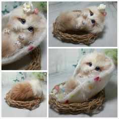 Precious - Needle felted kitten by ysm from Japan