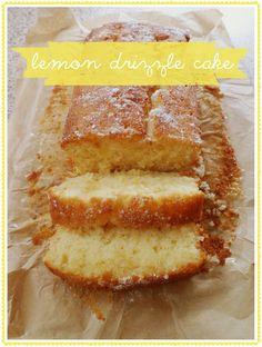lemon drizzle cake on littletree designs blog