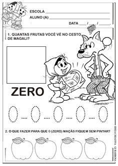 Atividade Numeral 0 (zero) com a Turma da Mônica
