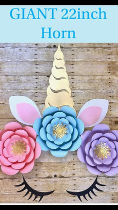 Giant Unicorn 22 inch horn, lashes and ears #unicornparty #unicornio #unicorncake #unicornears #unicornhorn #unicornface #paperflowers #unicornpaperflowers #unicorndecor #unicornbabyshower #unicornnursery #unicornshowerideas #unicornpartyideas https://www.etsy.com/listing/573196830/giant-unicorn-horn-ears-lashes-unicorn