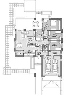 Projekt domu Julia 123,7 m2 - koszt budowy 239 tys. zł - EXTRADOM House Plans, Floor Plans, How To Plan, Architecture, Interior, Garden Living, Houses, Home Decor, Home Plans