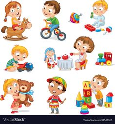 Find Children Play Toys Little Girl Riding stock images in HD and millions of other royalty-free stock photos, illustrations and vectors in the Shutterstock collection. Thousands of new, high-quality pictures added every day. Cartoon Clip, Cartoon Kids, Evil Cartoon Characters, New Toy Story, People Illustration, Funny Illustration, Boy Pictures, Boys Playing, Baby Play