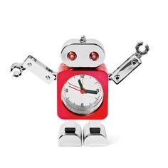 Een van de regels van een robot is altijd naar een mens te luisteren. Stel de tijd waarop je wakker moet worden in en hij zorgt dat je je niet meer verslaapt! € 5.