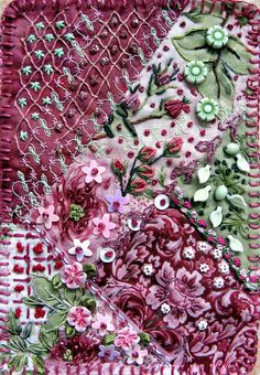 Fabric Postcard ....  by konnykards, via Flickr