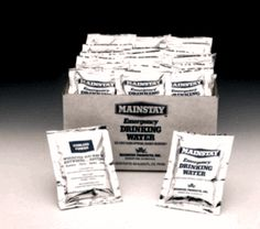 Mainstay™ Emergency Water Packets.  Case of 360 Packets