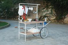 Q-Cina is a mobile kitchen made for the street-food and for culinary events (public and private). The design has been inspired by street-food kiosk but it is carried out in an modern style and ready to be used outdoor. by MoMAng (Italy)