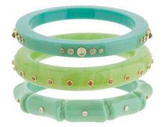 Bakelite bangles from Mark Davis - love the colors!