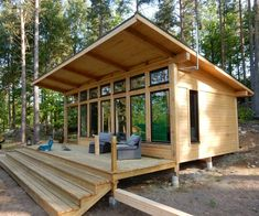 Gorgeous Modern Tiny House Design and Small Homes Coll Modern Tiny House, Tiny House Cabin, Tiny House Living, Tiny House Design, Cabin Homes, Tiny Cabins, Timber Frame Cabin, Timber Frames, A Frame House