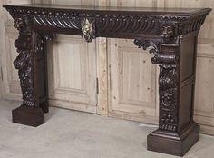 Stunning Louis XII Fireplace Mantel/Surround | Antique Fireplace/Mantels | Inessa Stewart's Antiques