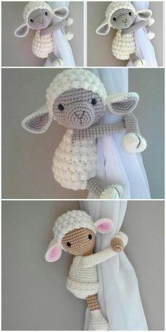 Crochet Sheep Free Pattern, Crochet Animal Patterns, Crochet Patterns Amigurumi, Free Crochet, Knit Crochet, Knitting Patterns, Disney Crochet Patterns, Crochet Baby Toys, Crochet Teddy