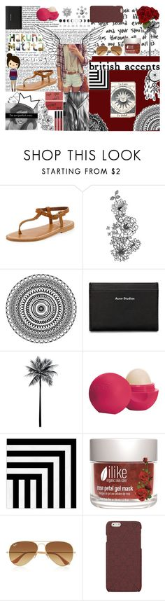 """""""<3 British Accents"""" by andreab6 ❤ liked on Polyvore featuring K. Jacques, Borghese, Filson, Acne Studios, WALL, Eos, West Elm, Ray-Ban and Sia"""