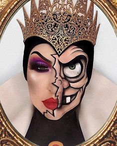 Face Paint Makeup, Eye Makeup Art, Scary Makeup, Hair Makeup, Evil Queen Makeup, Amazing Halloween Makeup, Halloween Inspo, Disney Makeup, Theatrical Makeup