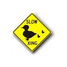 "Metal traffic Sign: 24""x24"" - Slow / Duck Crossing (Office Product)  http://234.powertooldragon.com/redirector.php?p=B00391EWSS  B00391EWSS"