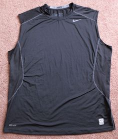 923bad4ff1 Mens NIKE Pro Combat Fitted Sleeveless Shirt Black XXL 2XL Athletic Workout   Nike  ShirtsTops