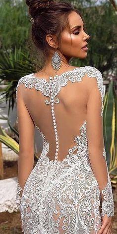 Wedding Dress Trends, Sexy Wedding Dresses, Bridal Dresses, Wedding Gowns, Wedding Bride, Lace Wedding, Undone Look, Backless Wedding, Princess Wedding
