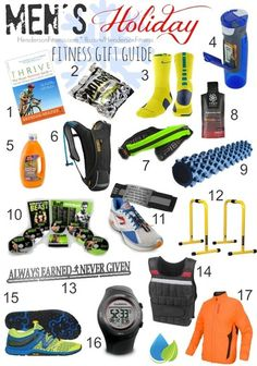 Men's Fitness Holiday Gift Guide.  Love this list!