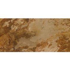 Sedona Slate Cedar Glazed Porcelain Floor Tile (Common: x Actual: x Inexpensive Flooring, Unique Flooring, Slate Flooring, Outdoor Flooring, Types Of Flooring, Flooring Options, Porcelain Floor, Entry Foyer, Lowes Home Improvements