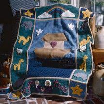Noah's Ark Afghan Crochet Pattern | Purple Kitty