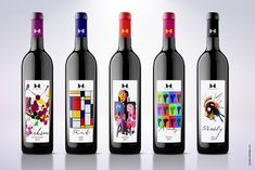 Wine Labels inspired by famous Artists on Packaging of the World - Creative Package Design Gallery