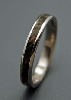 Runaway II - Wooden Wedding Rings. $220.00, via Etsy.