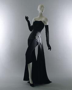 Evening dress, Designer: Christian Dior (French, Granville 1905–1957 Montecatini) Date: fall/winter 1949–50 Culture: French Medium: wool, silk