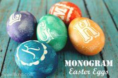 Monogram Easter eggs by Kristyn Merkley for Lil' Luna.