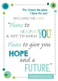 For I know the plans I have for you declares the Lord.Jeremiah is one of my favorite verses. This Bible verse is sure to keep you encouraged. Printable Bible Verses, Scripture Verses, Bible Verses Quotes, Scripture Memorization, Printable Quotes, Bible Scriptures, Faith Quotes, Jeremiah 29 11, I Know The Plans