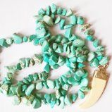 Boho necklace made with turquoise natural stone