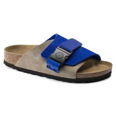 BIRKENSTOCK Copenhagen Nubuck/Suede Leather Ultra Blue/Taupe in all sizes ✓ Buy directly from the manufacturer online ✓ All fashion trends from Birkenstock Birkenstock Sandals Men, Birkenstocks, Men Sandals, Leather Slippers For Men, Mens Slippers, Suede Leather, Leather Sandals, Leather Men, Fashion Slippers