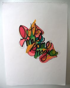 Handmade Typography by Jenn Maine, via Behance