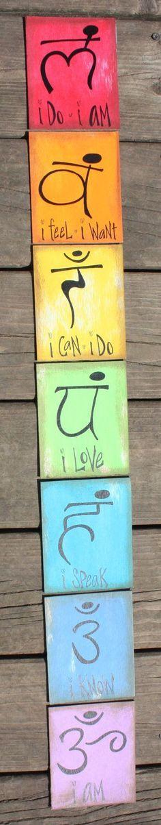 Chakra Meditation Cards por ARTMOMSLLC en Etsy